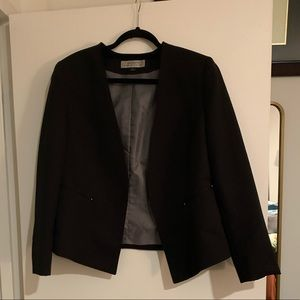 Black Faint Pinstripe Blazer